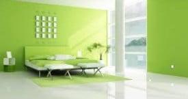 Apartamento reformado en color verde